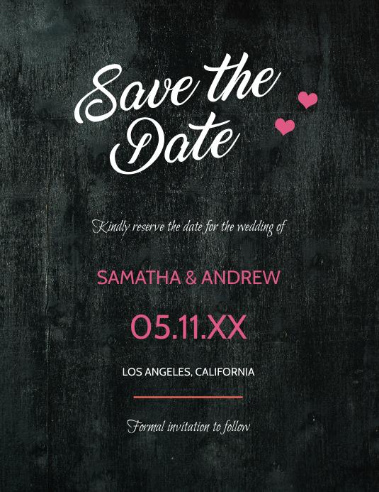 Save the Date - Blackboard Design