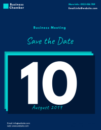 save the date business meeting flyer template