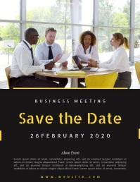 SAVE THE DATE BUSINESS MEETING TEMPLATE Folheto (US Letter)