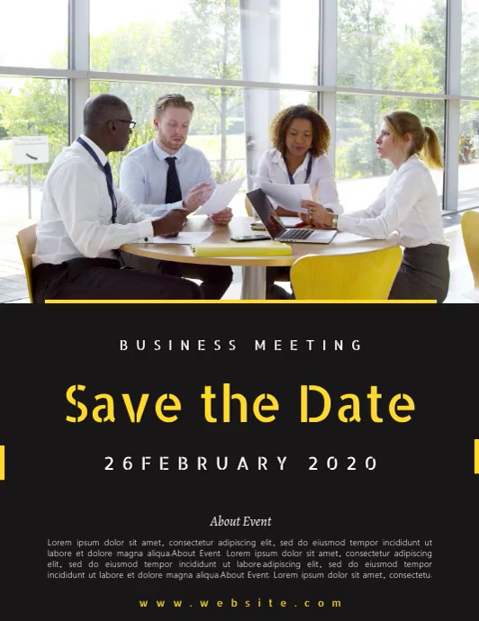 SAVE THE DATE BUSINESS MEETING TEMPLATE Flyer (Letter pang-US)