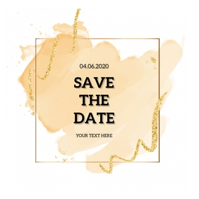 SAVE THE DATE CARD DESIGN Template