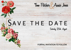 Save The Date Card A6 template