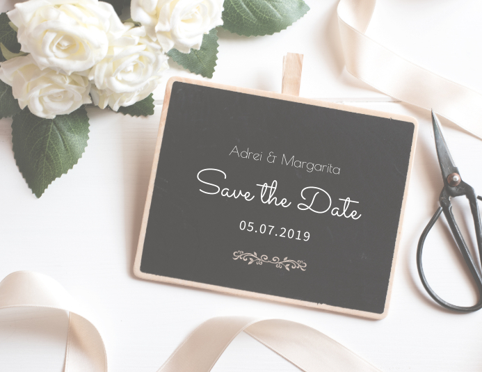 Save The Date Card Template Flyer (US Letter)