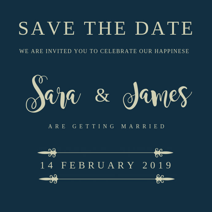 SAVE THE DATE CARD TEMPLATE