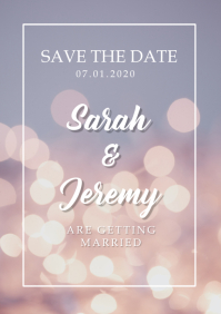 SAVE THE DATE A5 template