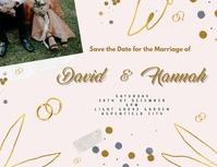 Save the Date Folheto (US Letter) template