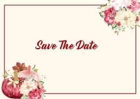Save The Date Cartolina template