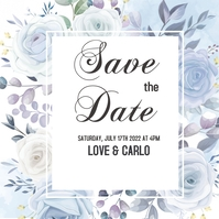 save the date Pos Instagram template