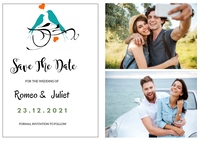 Save The Date Étiquette template