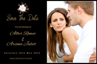 Save The Date Этикетка template