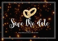 Save the Date Postal template