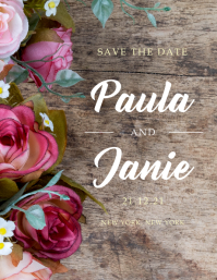 Save the Date - Elegant, Roses