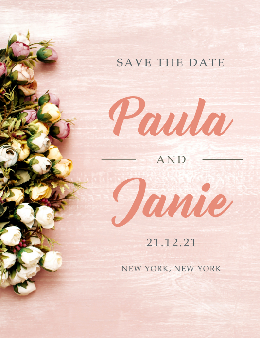 save the date elegant template postermywall
