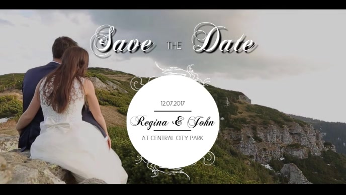 Save the date Event facebook video template with your video