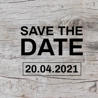 save the date flyer Instagram Post template