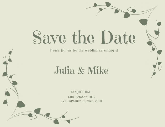 save the date flyer