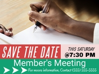 Save the Date Flyer Presentation template