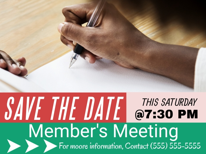 Save the Date Flyer Презентация template
