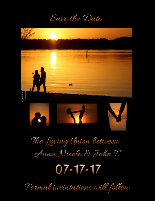 Save The Date Flyer Template Postermywall