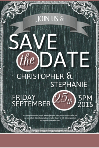 Customizable Design Templates For Save The Date Event PosterMyWall - Save the date flyer template