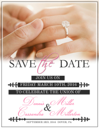 Customizable Design Templates For Save The Date Flyer PosterMyWall - Save the date flyer template
