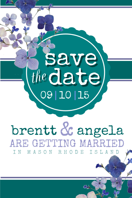Save the date Poster template