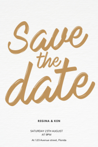 Save the Date Flyer Template Poster