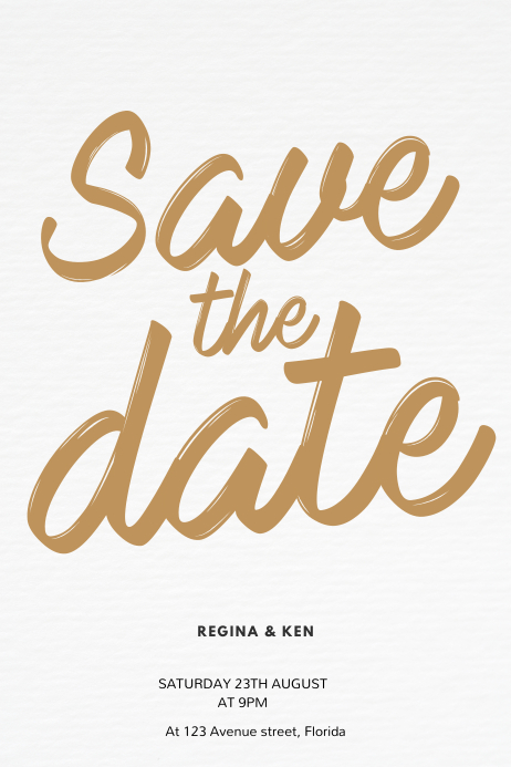 Save the Date Flyer Template Plakat