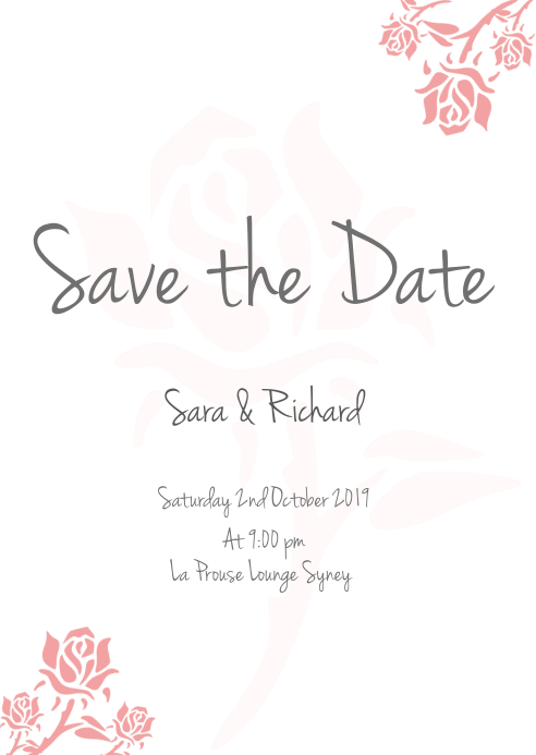 save the date FLYER TEMPLATE A6