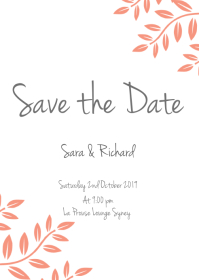 save the date FLYER TEMPLATE