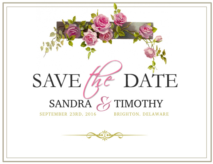 Save the date template illustration vector | free download.