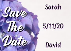 Save the Date Hydrangea