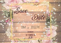 Save the Date Insta Postcard template