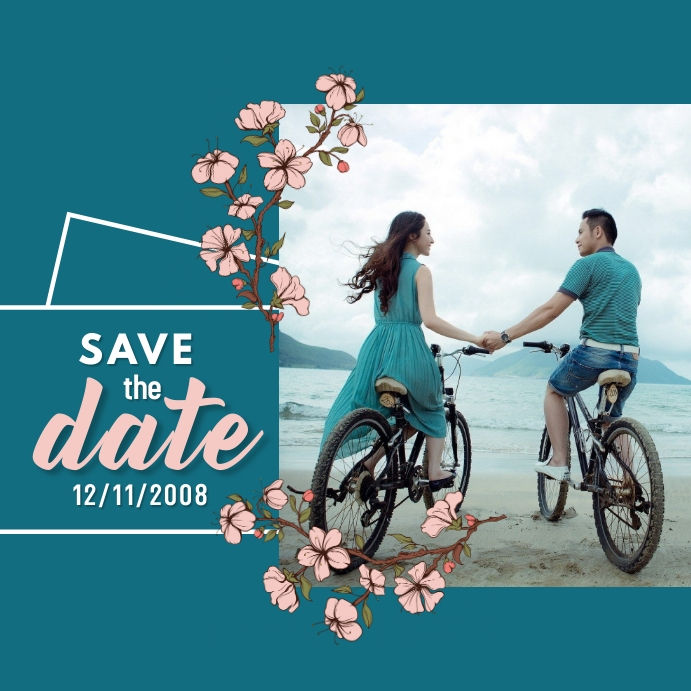 Save The Date Instagram template