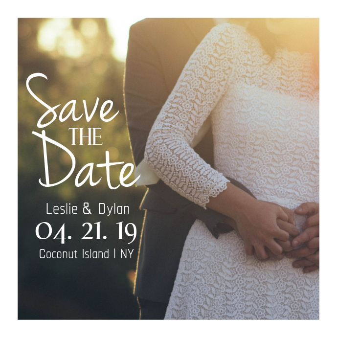 Save the Date Instagram Post