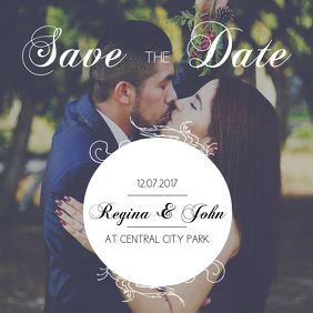 Save the date Instagram Post Template