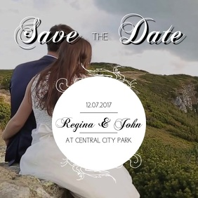 Save the date instagram video template for your video Instagram-Beitrag