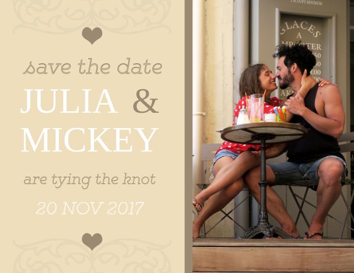 Save the Date Invitation Postcard