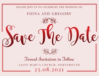 Save the Date Invitation Template Flyer (US Letter)