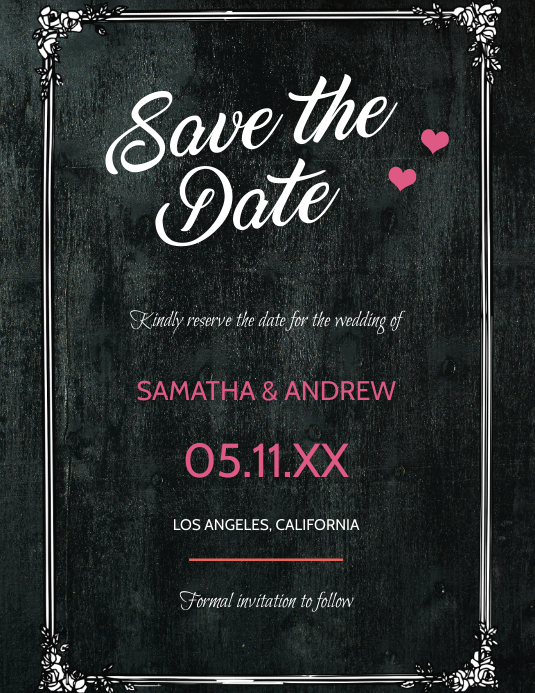 Save the Date - Monochrome Design