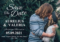 save the date postcard template kiss backgrou
