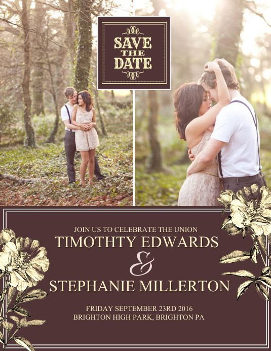 Save the date Flyer (US Letter) template