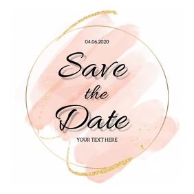 Save the date Social Media DESIGN Template Square (1:1)