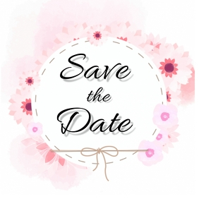 Save the date Social Media DESIGN Template