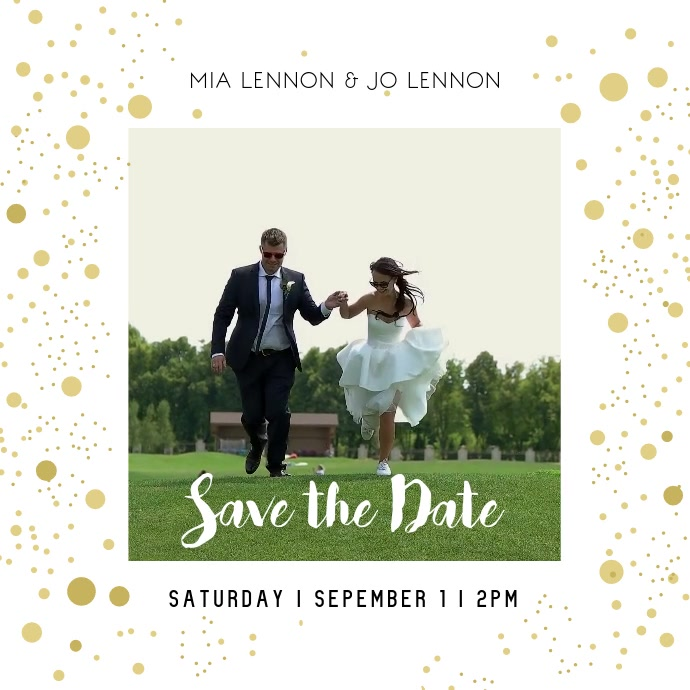 Save the Date Square Video