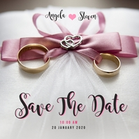 Save The Date Template Album Cover