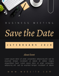 SAVE THE DATE TEMPLATE Flyer (US Letter)