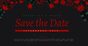SAVE THE DATE valentines party TEMPLATE