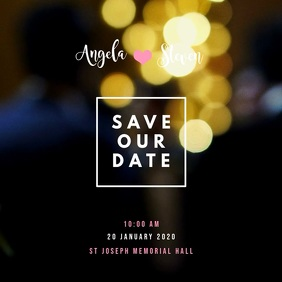 Save The Date Video Template Album Omslag