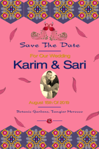 Save the date/wedding/anniversary/middle east